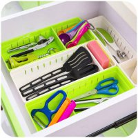 [globalbuy] 1pc Plastic Drawer Storage Kitchen Cutlery Storage Boxes Cabinet Finishing Box/4435106