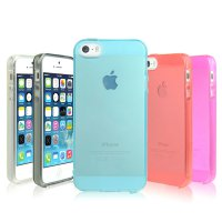 IPhone 5 / transparent case for TPU 5S / Transparent Jelly Case / 7 kinds of transparent color / cell phone case / mobile phone case
