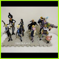 Action Figure one piece set strong world luffy zoro sanji nami brook