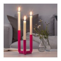 Ikea PS 2017 ~ Tempat Lilin Utk 3 Lilin Pink  Candlestick For 3 Candle