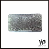 Dompet Wanita Kulit Asli Biawak Model Single Zipper Warna Natural