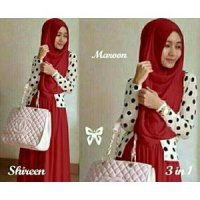 HIJAB SHIREN MERAH 3IN1 GM