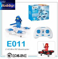 Eachine E011 Mini RC Quadcopter RTF Drone - Putih-Biru