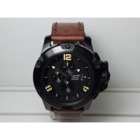 Jam Tangan Pria Alexandre Christie AC6295MC Chronograph Black Brown