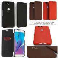 Huawei Nexus 6P Lenuo LeDream Soft Grip Leather + Hard Case Casing Cover