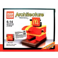 Mainan Kreatif Education Blocks Bricks Lego Quan Guan New Series Architecture Avaiable 6 Model (611)