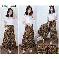 Cj collection Celana batik kulot rok panjang wanita jumbo long pant Anneta