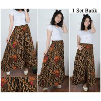 Cj collection Celana batik kulot rok panjang wanita jumbo long pant Ashera