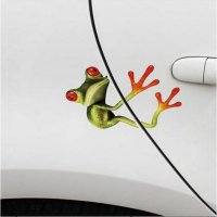 Hug Funny Frog Car Sticker
