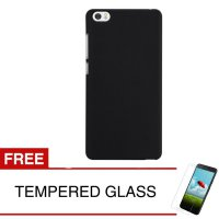 Case for Xiaomi Mi 5 - Slim Black Matte Hardcase + Gratis Tempered Glass