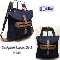 Tas Lokal/Tas Murah/Slingbag/Tas Selempang/Backpack Denim 2in1 | JYBG