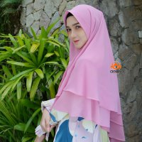 KHIMAR MAHIRA CERUTY PREMIUM 2 LAYER BY ORLIN HIJAB OFFICIAL