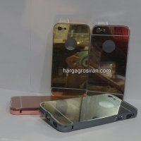 Bumper Mirror Iphone 5c - Bumper Kaca Plus Tutup Cover Belakang