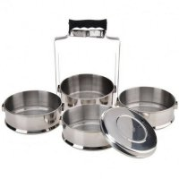 Rantang Catering Set 4 Susun Stainless Steel Food Carrier 14 cm