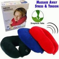 NECK CUSHION BANTAL ALAT PIJAT TRAPI LEHER EMPUK TRAVEL ALAT KESEHATAN PIJIT PRAKTIS IMPORT BEST SELLER