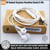 Xiaomi Headset Earphone Handsfree Earbud & Mic + Free Box - White