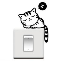 [globalbuy] Fashion Style Room Window Cat Wall Decorating Switch Vinyl Decal Sticker home /4626863
