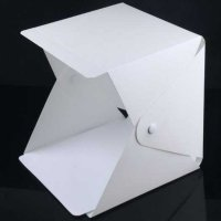 Studio Foto Mini Photo Box Light Box 4 Background LED Lighting