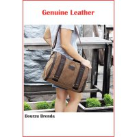 TAS KANVAS SLEMPANG BOURZU BRENDA 2 in 1 Genuine Leather