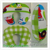 Bantal Menyusui Toys Car Square Green