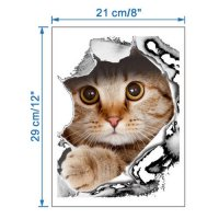 [globalbuy] The new creative cat dog broken wall stickers toilet seat toilet closestool co/4626032