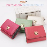 Korean Trendy Style Women Colorful Cute Card Purse Wallet / g0552_Fromb ◆ Melody Pinky Card Billfol