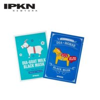 [IPKN]10 PCS DIA-HORSE & GOAT MILK Black Mask