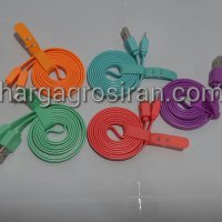 Kabel Charger Vivan Iphone 5 - USB Warna Warni 1 Meter - Gepeng / CSL100