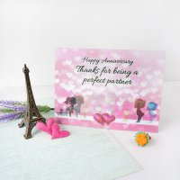 Kartu Ucapan 3D Happy Anniversary / Love Card Being a Perfect Partner