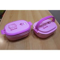TEMPAT AKAN OMPRENG LUNCH BOX STAINLESS KOTAK MAKAN HELLO KITTY Q7