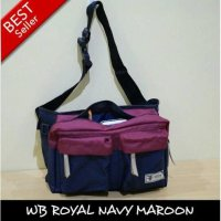 Waistbag Distro Color Navy Maroon