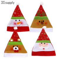 [globalbuy] Snowman Elk Christmas Hat for Children Adults Santa Claus Shaped Christmas Hat/4624519