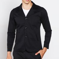 Blazer Semi Jas Hitam Slimfit - Long Casual Formal Hitam Polos