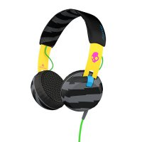 Skullcandy Grind S5GRHT-466 Headphone Cable 3.5mm With Mic Locals Only - Hitam/Kuning