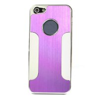 Purple Luxury Brushed Aluminum Chrome Hard Case Cover For Apple iPhone 5 5G 5th
