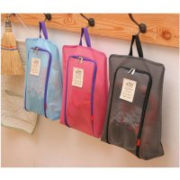 Hot Promo Korea Fannie Made Mesh Travel Shoe Pouch / Shoe organizer / Tas Sepatu