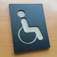 Indoor signage acrylic sign 1 - disabled only Kursi Roda Orang Cacat Disabilitas│Akrilik Decodeko