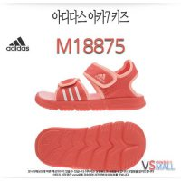 Genuine AD 14SU 07 stores for Adidas Red M18875 Junior Kids Child Youth sandals summer shoes velcro velcro Water