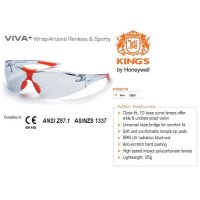 Kacamata Safety / Fashion / Motor KING'S KY 8811A Clear Lens ORIGINAL