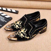 Christia Bella Fashion Embroidery Men Loafers British Style Party Wedding Loafers Gold Men Dress Shoes Men Velvet Flats Shoes