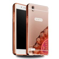 Case Oppo F1 Plus Bumper Metal + Back Case Sliding - Rose Gold