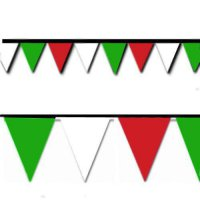 [macyskorea] Hughes Manufacturing Red, White and Green Triangle Pennant Flag 100 Ft./8037170
