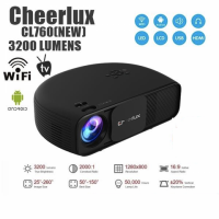 Original CHEERLUX CL760 Android WIFI Projector 3200 Lumens HD