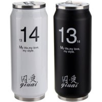Flask Vacuum Cup 1314 Thermos 450 ml botol minum kaleng kopi couple SJ0055
