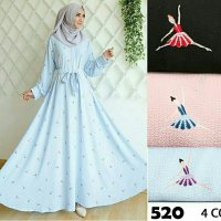 GAMIS JUMBO SYAR'I BUSUI / DRESS/ LONGDRESS PESTA / GROSIR HIJAB MURAH BUBBLE POP 520