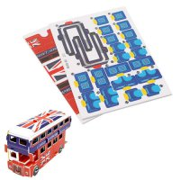 [globalbuy] Double Decker Bus Educational 3D Puzzle Paper & EPS Model Papercraft Home Gift/4563388