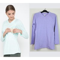 Just Mom Baju menyusui Tizi Light Purple TZ106