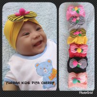 turban pita cherry kids/kid/baby/bayi/anak