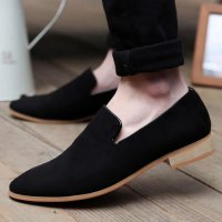 new 2017 men casual shoes mens shoe male fashion pointed toe men velvet loafers soft PU leather wedding shoe zapatos hombres