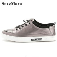 SexeMara Brand Designer Fashion Men Shoes Genuine Leather Men Casual Shoes High Quality Men Flats Loafer Driving Wedding Shoes